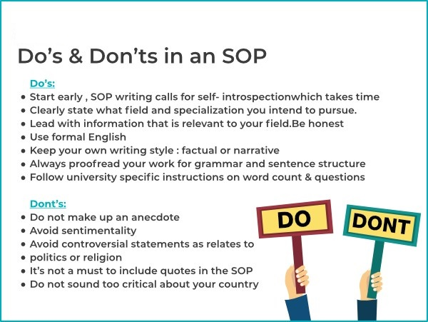 SOP Writing Tips To Study Abroad Admission